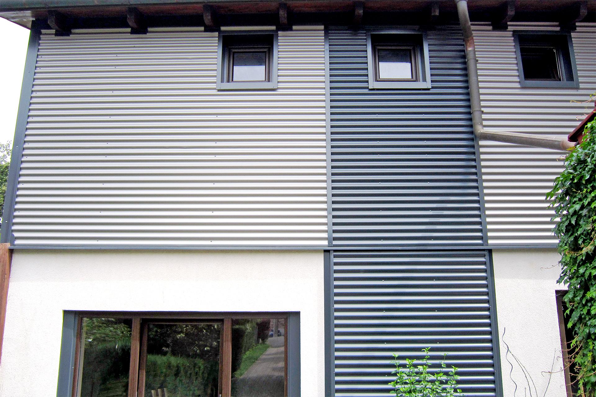 Metallfassaden - Blechverkleidung Privathaus