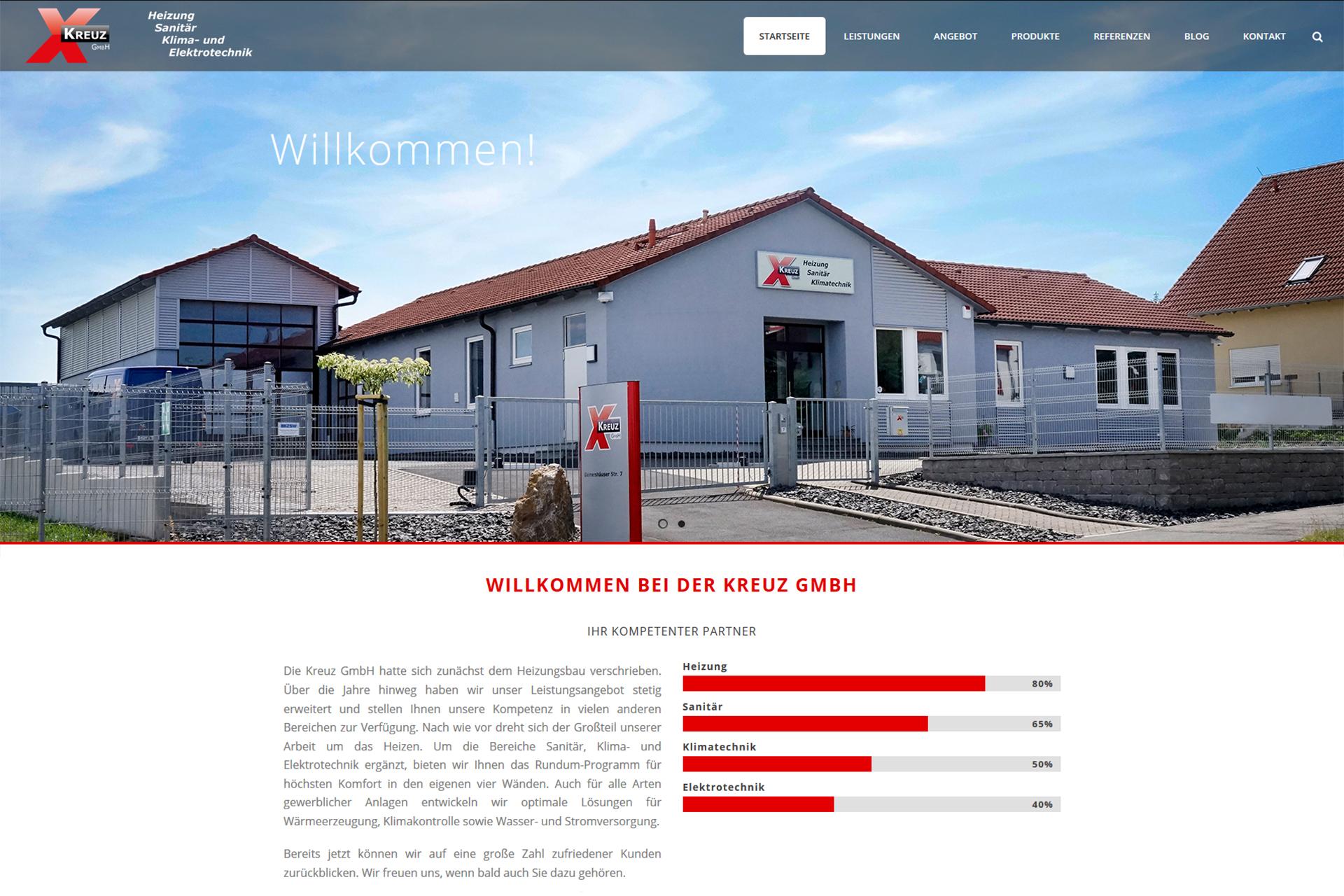 Neue Website - Kreuz GmbH